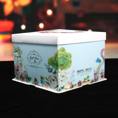 美好时光蛋糕盒生日包装盒 烘培包装 手提纸制盒子 厂家定制新款