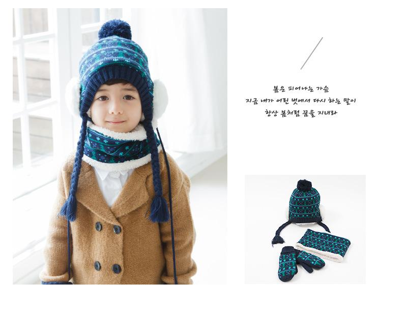 หมวกไหมพรมกันหนาวเด็กชาย