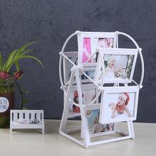 創意兒童5寸7寸摩天輪相框旋轉大風車塑料相架組合婚紗照影樓批發