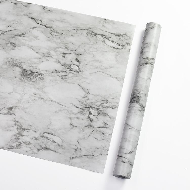 大理石墙纸 自粘厨房卫生间防水墙贴卧室墙壁纸宿舍pvc壁纸定制