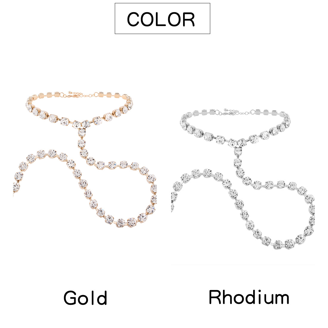 Occident and the United States alloy plating Necklace (Imitation k)NHNMD3775-Imitation k