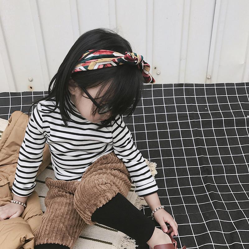 17秋冬款童装男女童哈伦裤 加厚儿童灯芯绒韩版休闲长裤