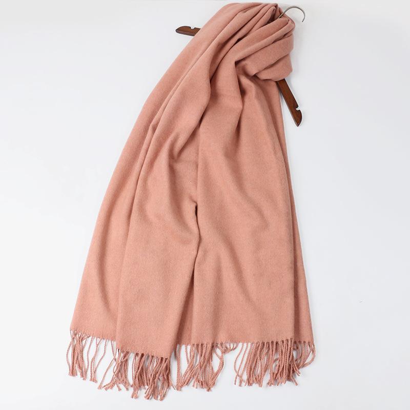 Len khăn khăn choàng với màu sắc rắn năm 2017 mùa thu và mùa đông Hàn Quốc hoang dã nữ dày đặc ấm dày sinh viên