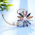 欧美新款外贸淡水珍珠胸针wish畅销水晶镶钻花卉胸花服装配饰批发