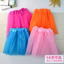 歐美童裙秋爆款ins兒童芭蕾舞裙中小童三層網紗半身裙tutu裙