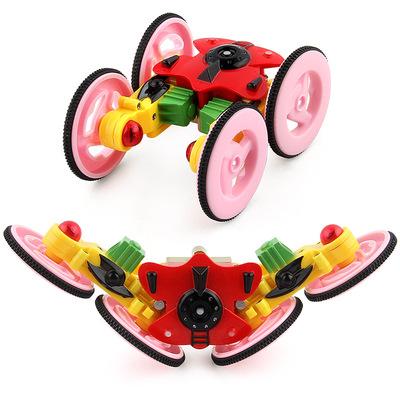 Thương mại nước ngoài mới xoay đèn diễn viên đóng thế xe sạc điều khiển từ xa xe off-road điều khiển từ xa xe điện đồ chơi trẻ em