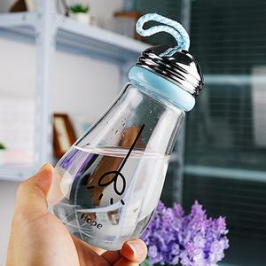 创意新款广告礼品玻璃杯子 随手饮料灯泡水杯定制logo 便携带