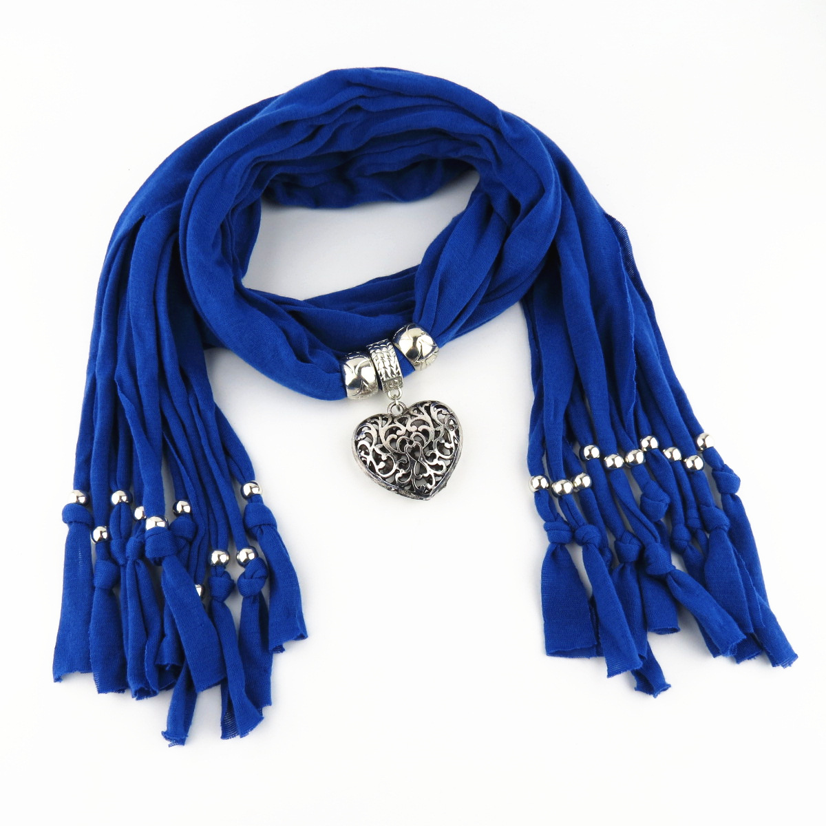 Feitong 2017 New Fashion Winter Warm Scarf Women Charms Scarf Alloy Hearts Drop Pendant Jewelry Scarves Necklace Scarf 13 colors