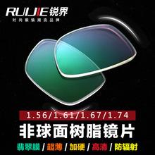 韩国大明1.74非球面超薄高清防刮树脂近视眼镜镜片批发