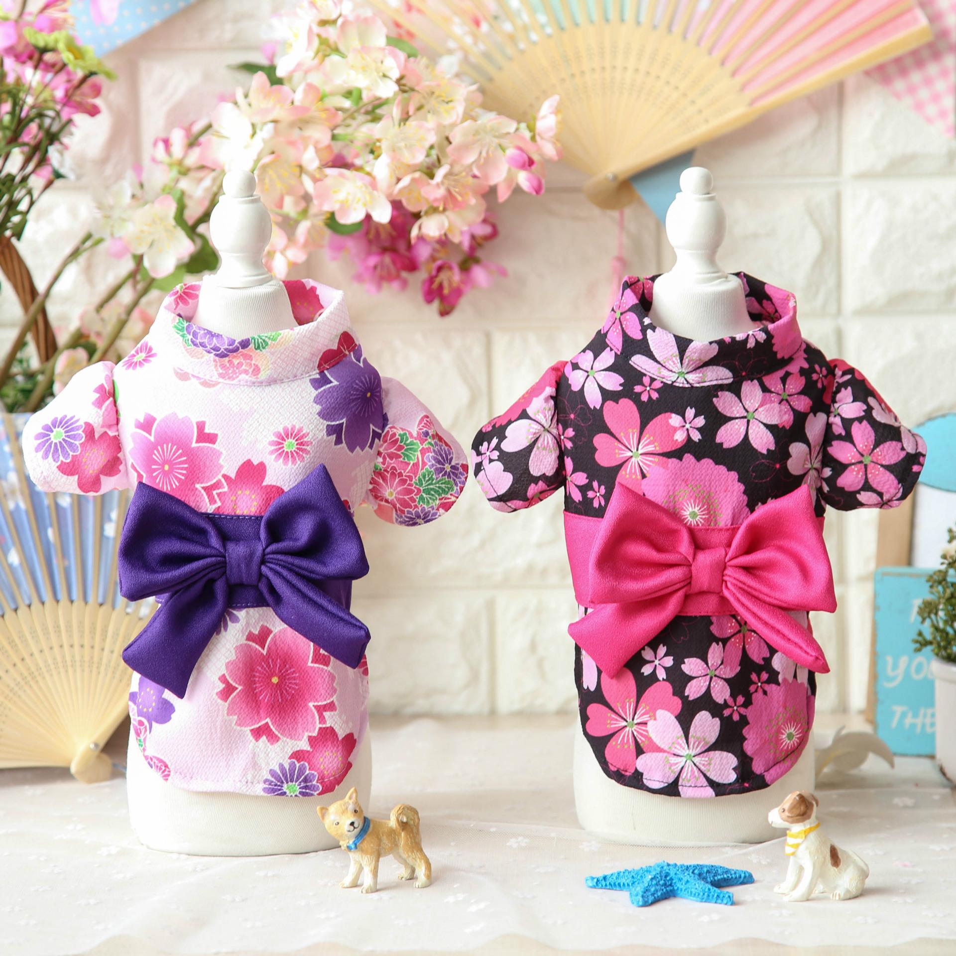 Petstyle春夏新品 日式樱花丸菊和服 宠物狗狗衣服 和风浴衣
