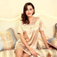 Yao Ting home service female summer pajamas female summer casual short-sleeved lace nightdress female summer new products