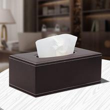 车载家居纸巾盒 商务皮革抽纸盒 纸抽盒定制 面巾纸盒批发直销
