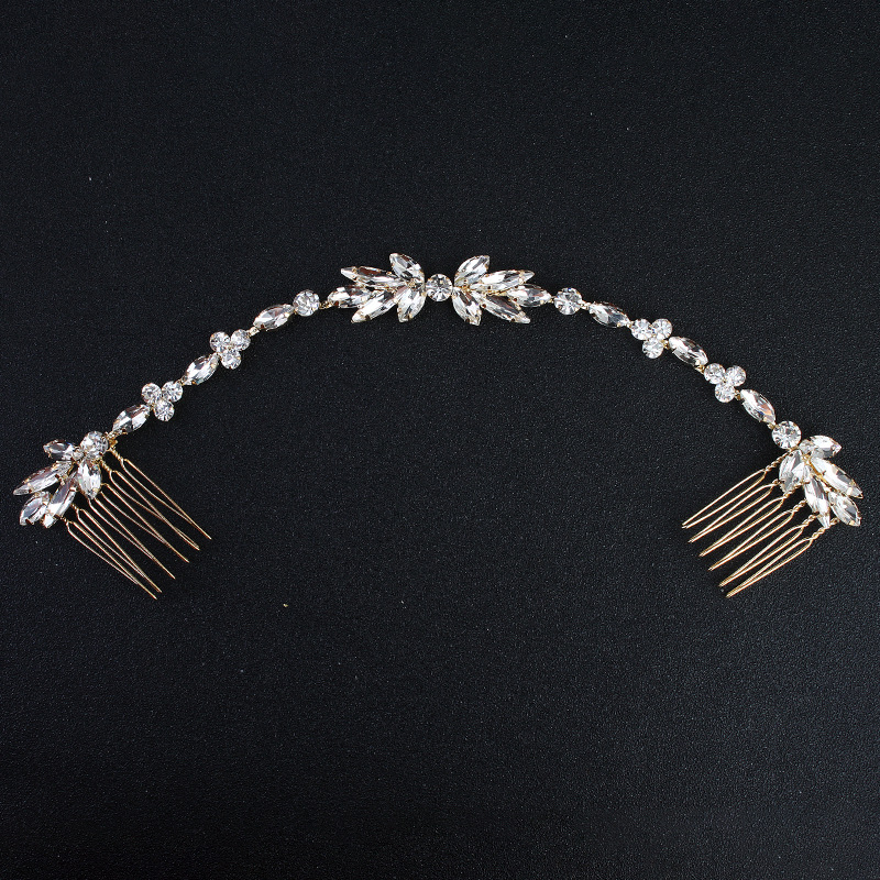 Imitated crystal&CZ Fashion Sweetheart Hair accessories  (Alloy) NHHS0297-Alloy