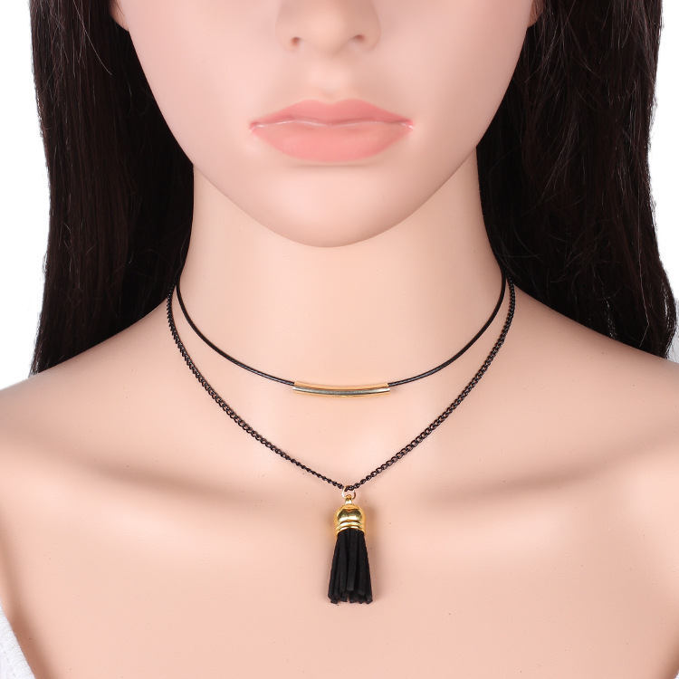 Simple pearlJewelry Sets (black)NHIM0769-black