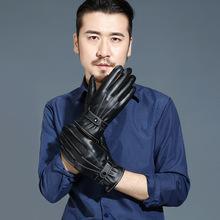 三道线PU手套冬季骑车骑行保暖男士触屏手套户外防护手套地摊热销