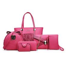 女包 2019 ladies women handbag子母包六件套手提單肩斜跨包