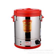 銹鋼電熱蒸煮桶 雙層發泡保溫開水桶電煮桶煮面煲節能保溫湯桶