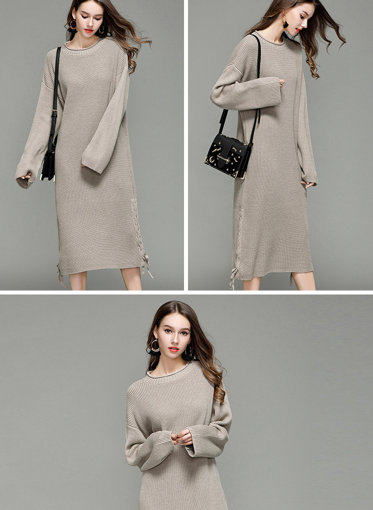new loose knitted long sleeve shirt NSYH9734