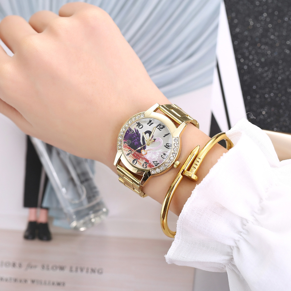 New couple steel belt watch with calendar simple casual men and women models quartz watch NHHK176232