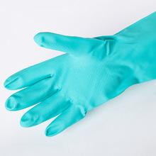 廠家批發新款綠色丁晴手套PU工業乳膠手套鉆石紋防水防油家用手套