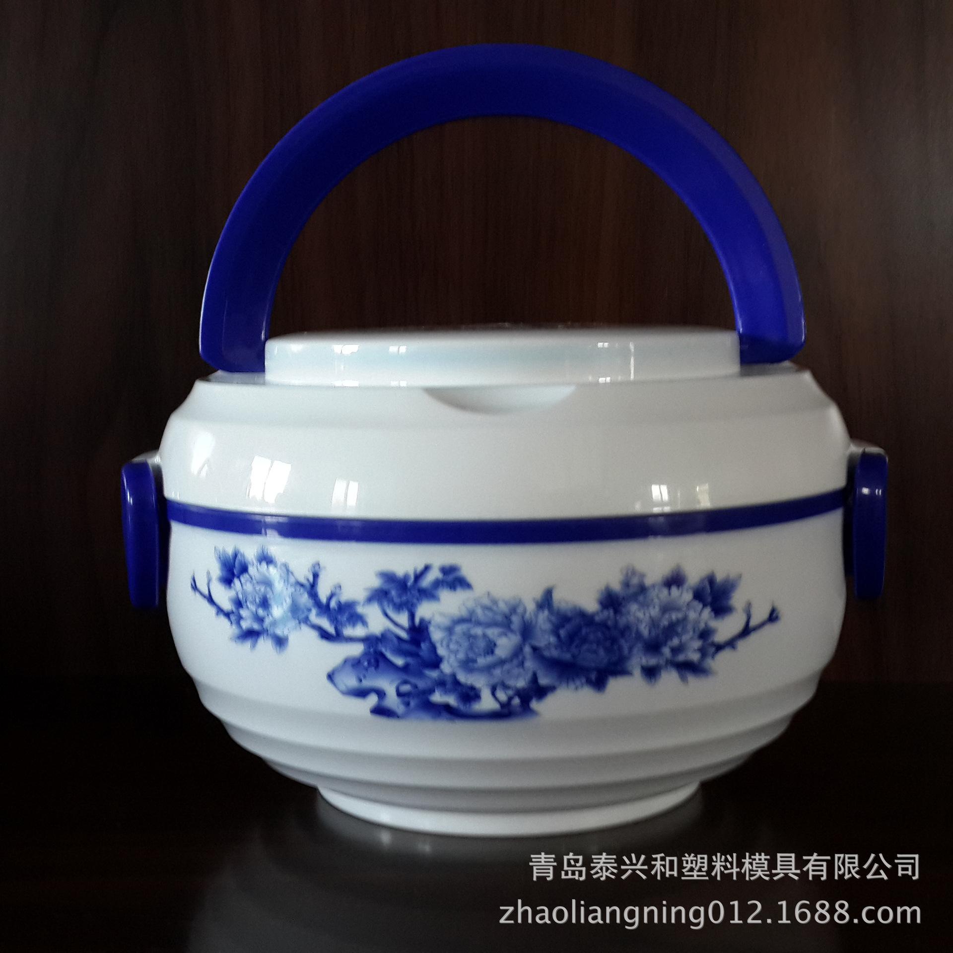 烟台厂家直销新款 pp包装盒 食品级酱盒 国韵青花豆瓣酱盒 中国风