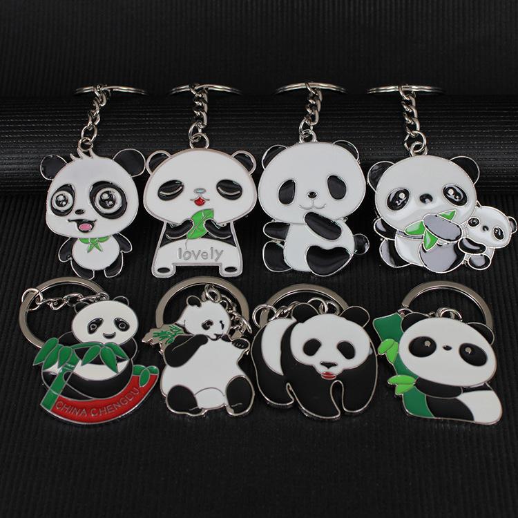 厂家直销大号熊猫钥匙扣金属挂件 旅游特色中国风外事小礼品