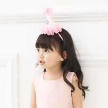 宝宝周岁帽子生日饰品 70021可爱星星头带 美全厂家直销儿童发饰