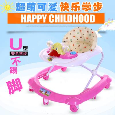 婴幼儿童宝宝学步车6718个月带音乐U型多功能防侧翻滑行学行车