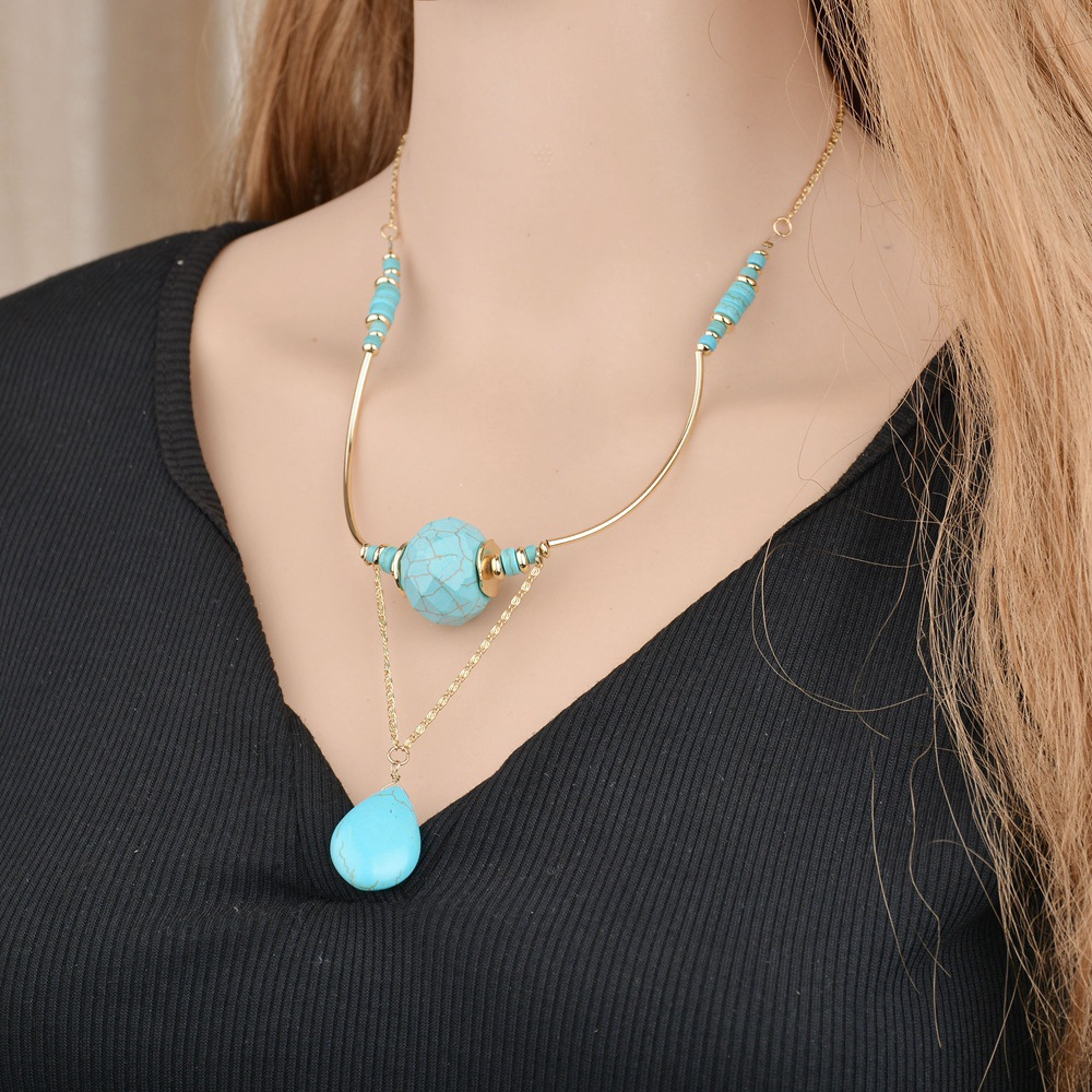 Occident and the United States Turquoisenecklace (white)NHBQ0996-white
