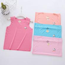 夏季新款韓版外貿兒童T恤精梳棉背心男女短袖吊帶衫廠家直銷