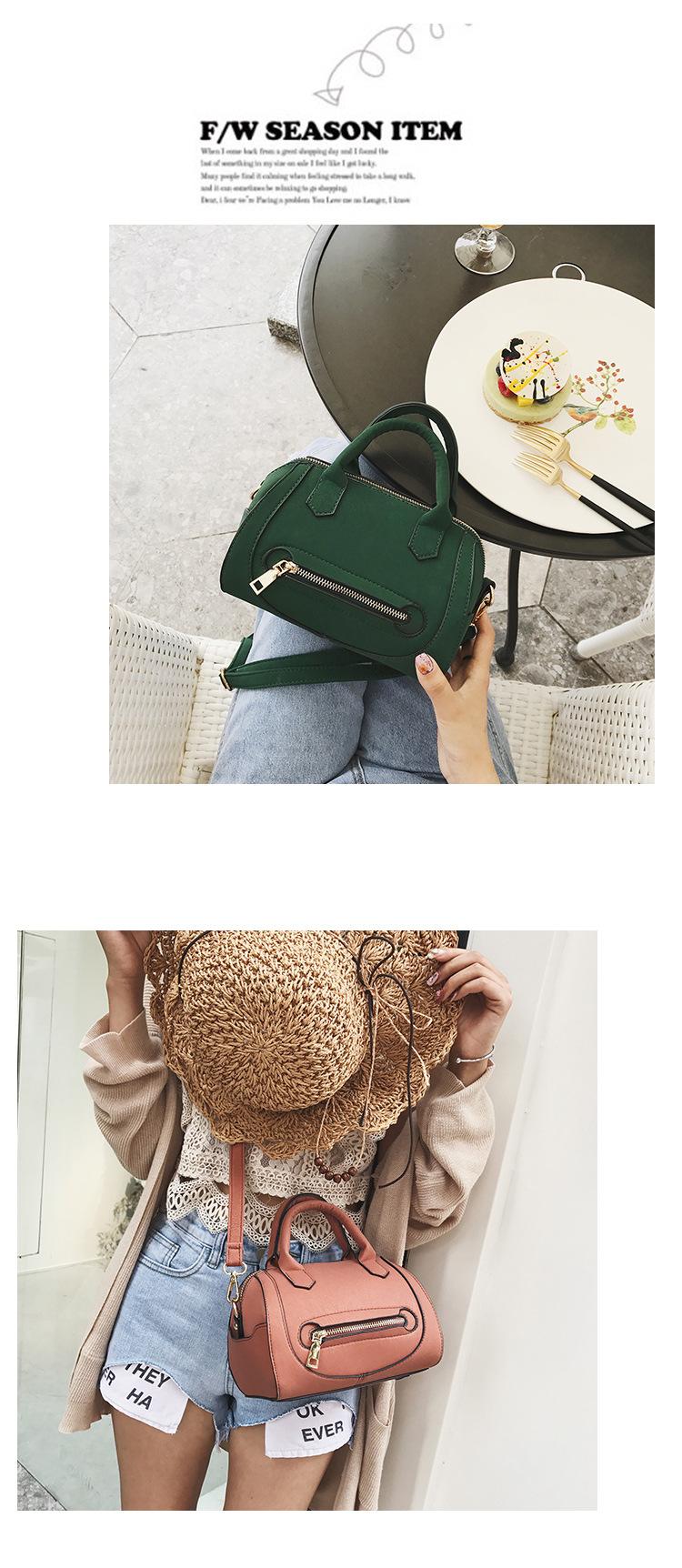 Korean version PUfashion bag (Pink)NHPB0123-Pink