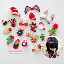 939 儿童发饰头饰品女童批发 圣诞节新年发夹发卡多款组合