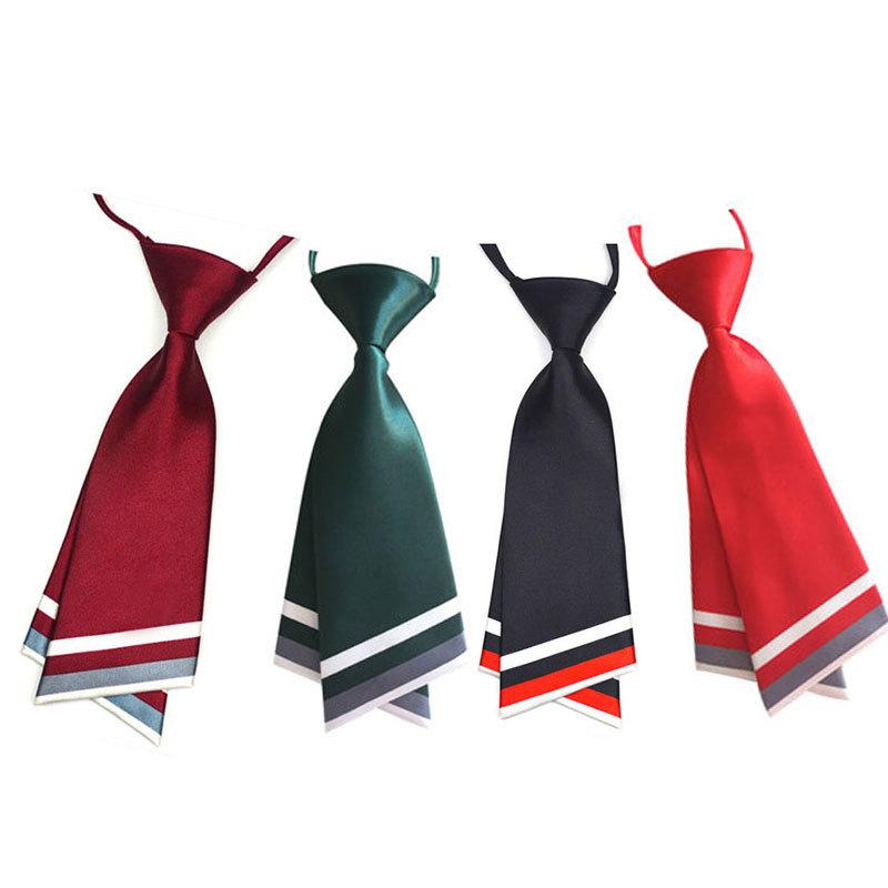韩版女士职业装 校园风学生JK制服校服双层刀型领带 水兵舞蹈领带
