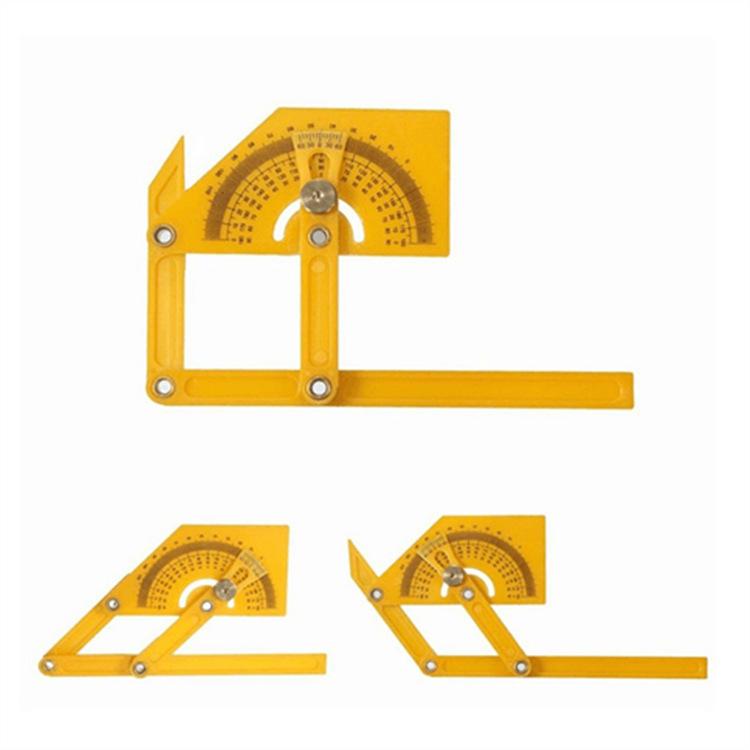 外贸活动折叠尺子 ABS塑料木工尺 测量直角半圆尺子