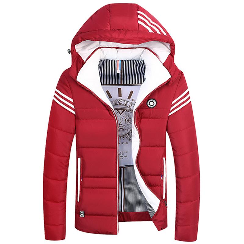 冬季男士连帽棉衣修身加厚大码棉服青年韩版外贸男式棉服外套