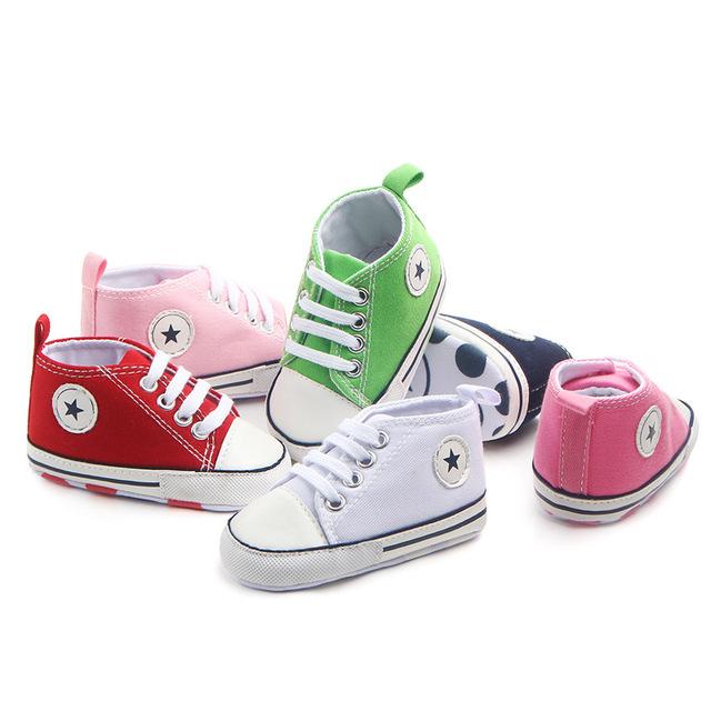Giày dép trẻ em mùa xuân và mùa thu rắn màu phía trước với giày vải trẻ em đa năng Giày dép trẻ em 1747 Giày em bé