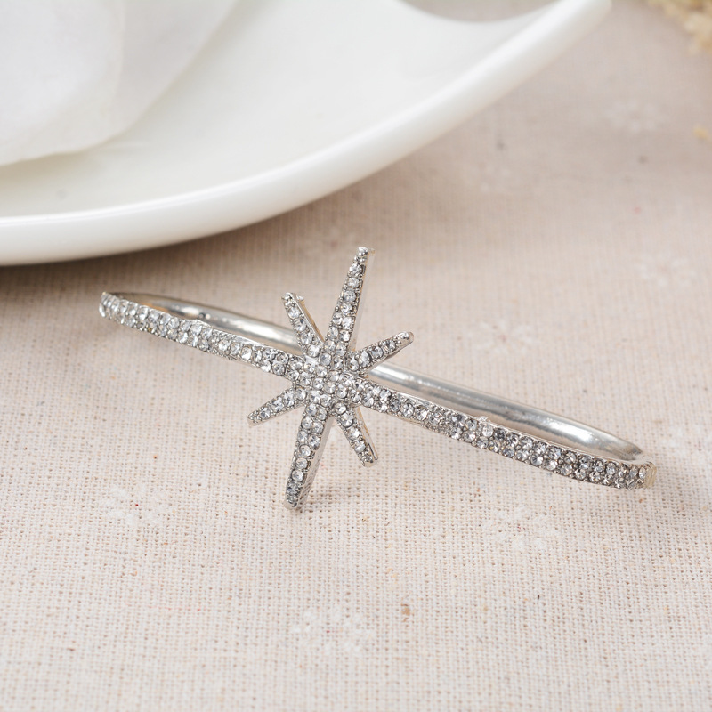 Simple alloy Diamond bracelet (Silver)NHGY0529-Silver