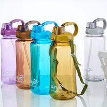 厂家直销户外弹跳太空杯 大容量运动水壶 带提绳吸管塑料杯批发