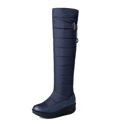 过膝加厚棉绒雪地靴长靴子女式冬大码40-44码HX-95