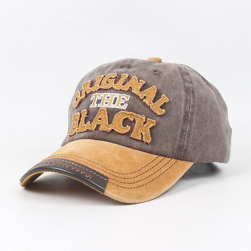 欧美新款水洗字母棒球帽男士复古刺绣弯檐帽子做旧鸭舌帽女热卖