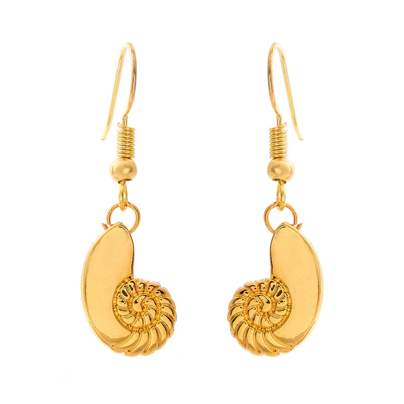 Conch Shell Earrings Gold Plated Silver Lady Sweet Conch Earrings Wholesale NHCU196695