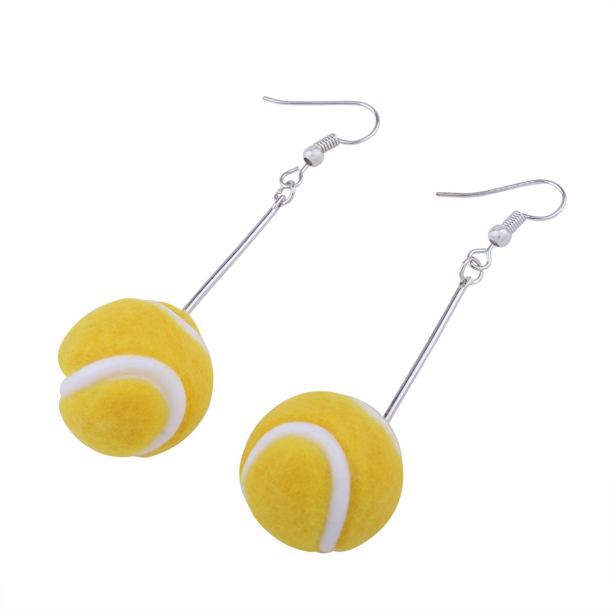 Korea style alloy plating earring (badminton)NHNMD3793-badminton