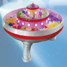 萌乐游乐儿童室内设备卡通雕塑淘气堡配件UFO玻璃钢太空沙桌沙池