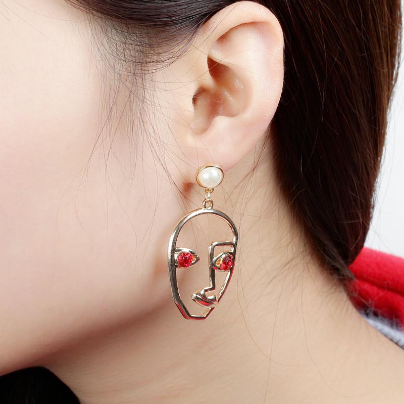 Earrings face mask earrings Facebook earrings exaggerated punk style female earrings NHCU196711