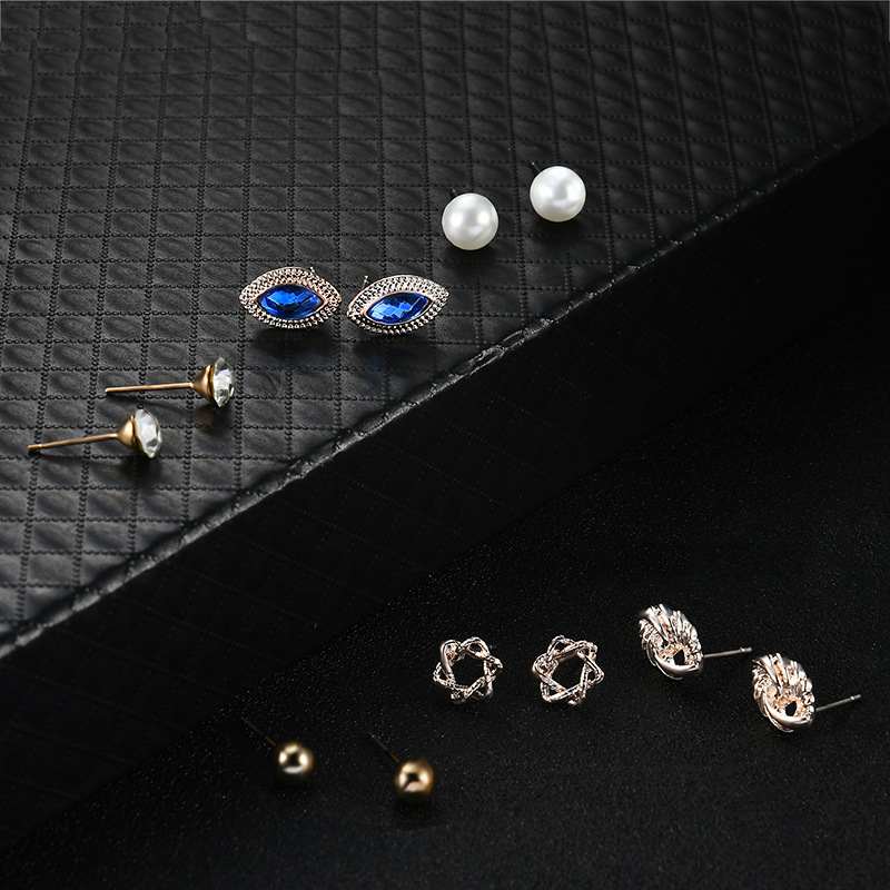 Occident and the United States alloy Diamond Jewelry Set (61178095)NHXS1454-61178095