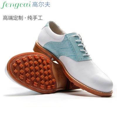 X·F·C/昕风采纯手工鞋固特异高尔夫球鞋男款真皮防水量脚订制鞋
