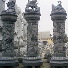 惠安石雕廠家直銷景觀廣場石雕文化柱 寺廟建筑雙龍青石石雕龍柱