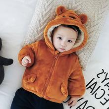 ins爆款宝宝加绒外套冬季2017新款韩版外出服婴儿加厚童装代发