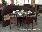 藤餐 藤椅 室外户外酒吧休闲庭院桌椅组合藤编餐台椅工程配套