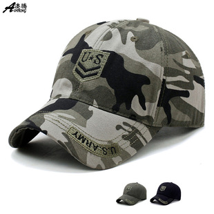 Autumn and winter hats men's outdoor camouflage baseball caps embroidery casual cap manufacturers wholesale one drop